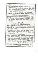 LEEST / BLAASVELD / KAPELLE-op-den-BOS - Petrus VAN BREEDAM, Maalder +1836 En Anna VAN DOORSLAER +1839 - Devotieprenten