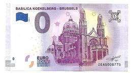 BELGIQUE  BASILICA KOEKELBERG BRUXELLES  (billet 0 Euro) - EURO