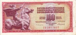 Billet Yougoslavie 100 Dinars Année 1986 90c VF - Yougoslavie
