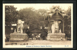 AK Mandalay, Entrance Of Eindawya Pagoda - Postcards