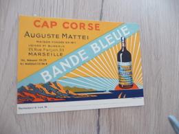 Pub Publicité Illustrée Cap Corse Alcool Auguste Mattei Marseille - Advertising