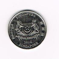 //  SINGAPORE   20  CENTS  2010 - Singapour