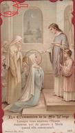 Communieprentje  1915 Heilige Communie Santini Canivet Image Pieuse Maria & Clara Wuyts Holy Card Communion Reeth - Images Religieuses