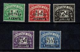 Ref 1292 - GB Stamps - British Occupation Of Italian Eritrea1950 MNH Due Set SG ED6-ED10 - Eritrea