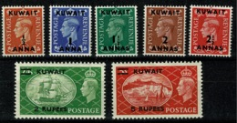 Ref 1292 - GB Stamps - British Overprints In Kuwait 1950 KGVI MNH SG 84-91 (less 4a) - Kuwait