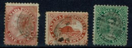 Ref 1292 - 3 Early Canada Used Stamps - Cat £140+ - Used Stamps