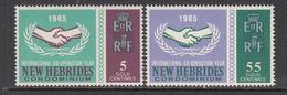 1965 New Hebrides ICY Cooperation Complete Set Of 2 MNH - Leyenda Inglesa