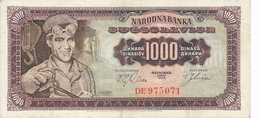 Billet Yougoslavie 1000 Dinars Année 1963 75a XF - Yougoslavie