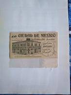 México Postcard Publicity No Postcard Back Shop Publicity A La Ciudad De México - Mexico