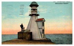 Wisconsin Milwaukee Harbor , Breakwater Light - United States
