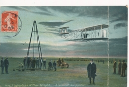 CPA - Thèmes - Avions - L'aéroplane Wilbur Wright - L'arrivée Au Pylône - ....-1914: Précurseurs