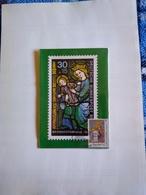 Uruguay Máximum Card Postal Maximun Unique Christmas 1997 Stained Glass Mary And Jesús St Gereon Church In Koln - Uruguay