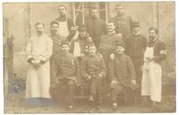 Cpa Carte-photo Soldats & Infirmiers, Brassard Croix-Rouge, écrite De Montauban  ( MI ) - Guerre 1914-18