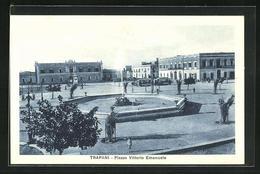 Cartolina Trapani, Piazza Vittorio Emanuele - Trapani