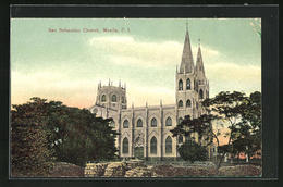 AK Manila, View Of The San Sebastian Church - Postcards