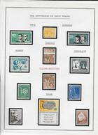1958 - 10° ANNIVERSAIRE DROITS DE L'HOMME - HUMAN RIGHTS - SUBERBE COLLECTION 7 PAGES * MLH DONT VARIETE INDONESIE - Francobolli