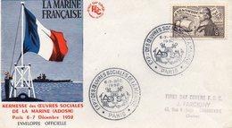 1952 Paris La Marine Française - FDC