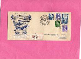 F0605 - Enveloppe Timbrée - PARIS - TANANARI - Les Ailes Brisées - Cinquantenaire Du Premier Vol Mécanique SATORY 14 Oct - Timbres