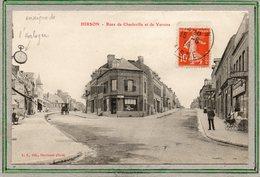CPA - HIRSON (02) - Aspect De L'enseigne De L'Horloger Au Carrefour Rues De Charleville Et De Vervins En 1914 - Hirson