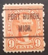 USA – Scott #641 – Precancel Port Huron, Michigan (1927) - United States