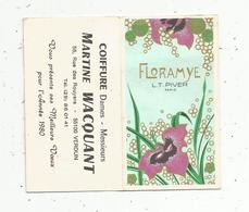 Calendrier Petit Format ,1980 ,coiffure Martine WACQUANT , Verdun, Floramye ,L.T.PIVER - Calendars