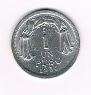// CHILI  1 PESO   1954 - Chili
