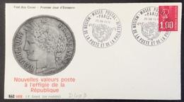 D403 Maison De La Poste Et De La Philatélie Musée Postal Paris 25/8/1976 Premier Jour 1895 - Postmark Collection (Covers)