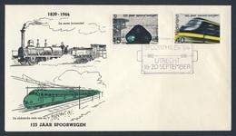 Nederland Netherlands Pays Bas 1964 Cover Brief + Mi 825 - SPOORPHILEX 64 - Nederlandse Spoorwegen 1839-1964 / Eisenbahn - Treinen