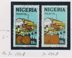 NIGERIA:  Les 2 Variantes: Le Y&T 290A Oblitéré Et Le Y&T 290B Neuf (*) - Nigeria (1961-...)
