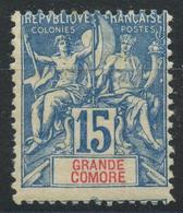 Grande Comore (1897) N 6 * (charniere) - Neufs