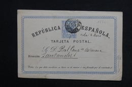 ESPAGNE - Entier Postal Pour Santander En 1874 - L 28890 - 1850-1931