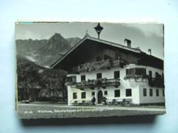 Oostenrijk Österreich Tirol Walchsee Schusterbauer Mit Kaisergebirge - Oostenrijk