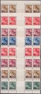 25/ Bohemia & Moravia; ** Nr. 20, 22, 24-25, 27, Border Gutters - Unused Stamps