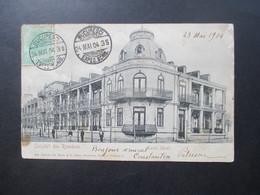 AK Rumänien 1904 Salutari Din Romania Lacul Sarat. Bucursesti Exped. Nach Frankreich Gesendet! Imprime - 1881-1918: Charles I