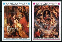Grenada 1989 Christmas MS Set MNH (SG MS2072a+b) - Grenada (1974-...)