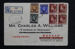 MAROC - Enveloppe En Recommandé De Fez Pour Monaco En 1937 , Affranchissement Plaisant - L 28892 - Postämter In Marokko/Tanger (...-1958)
