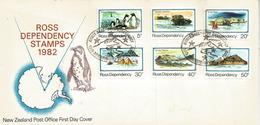 Expedition Bases Scott  Janvier 1982, Série Complète Lettre FDC N-Z Post-Office - Storia Postale