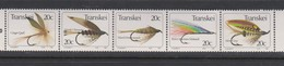 South Africa-Transkei SG 137-141 1984 Fishing Flies 5th Series, Mint Never Hinged - Transkei