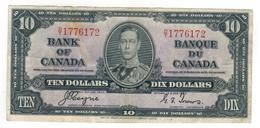 Canada 10 Dollars 1937, (Coyne - Towers) VF+. - Canada