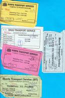 BHUTAN 5x Bus Tickets Thimphu To Phuentsholing And To Punakha - Welt