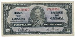 Canada 10 Dollars 1937, (Gordon - Towers) VF/XF. - Canada