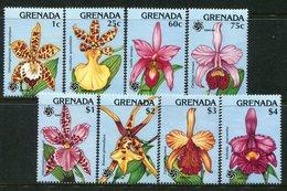 Grenada 1990 Expo '90 - Orchids Set MNH (SG 2082-2089) - Grenada (1974-...)