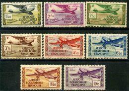 A.E.F (1937) PA N 1 à 8 * (charniere) - A.E.F. (1936-1958)