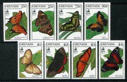 Grenada 1990 Butterflies Set MNH (SG 2091-2098) - Grenada (1974-...)