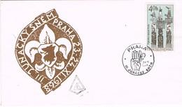 32623. Carta PRAHA (Checoslovaquia) 1968. III Junacky Snem. Encuentro SCOUTS Grupo Junik - Checoslovaquia
