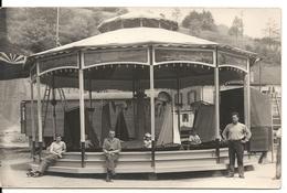 FETE FORAINE. CARTE PHOTO INSTALLATION MANEGE. BATEAUX - Circus
