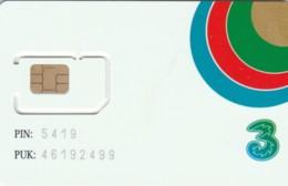 GSM WITH CHIP NOT ACTIVE -ONLY COLLECTION- TRE (A30.6 - [2] Handy-, Prepaid- Und Aufladkarten