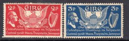 Ireland 1939 150th Anniversary Of US Constitution Set Of 2, Hinged Mint, SG 109/10, Foxing On 3d Value - Ungebraucht