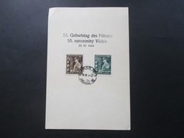 Böhmen Und Mähren 1944 Nr. 136 / 137 FDC / Blankokarte 55. Geburtstag Des Führers 20.IV.1944 Propaganda - FDC