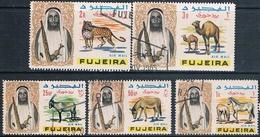 Fujeira 1965  -  Michel  2 + 4 + 6 + 7 + 8   ( Usados ) - Fujeira